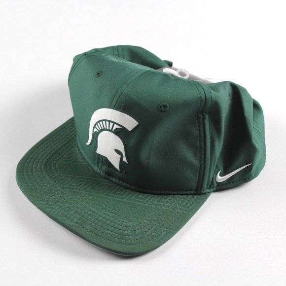 New Nike Drifit Michigan State Snapback Hat Green  3d4b9df2a74
